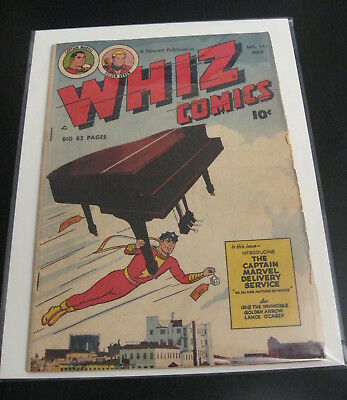 WHIZ COMICS #111 Fawcett 1949 (VG/FN) Photo Cover!