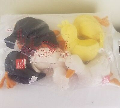 """Gund/Ducks/Maynard 8"""" - NEW LOT OF 6 Squeeze Me Sound Toys"""