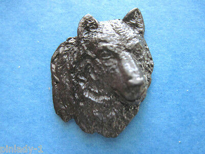 WOLF -   hat pin , lapel pin , tie tac , hatpin  ( 3 dimensional ) GIFT BOXED