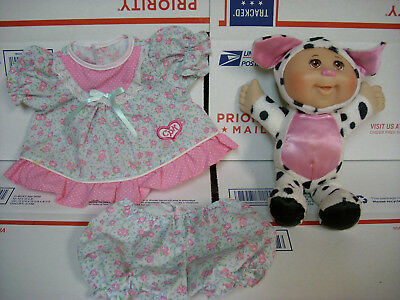 cabbage patch small doll cow costume & dress clothing toy Vgood Cond  (cy