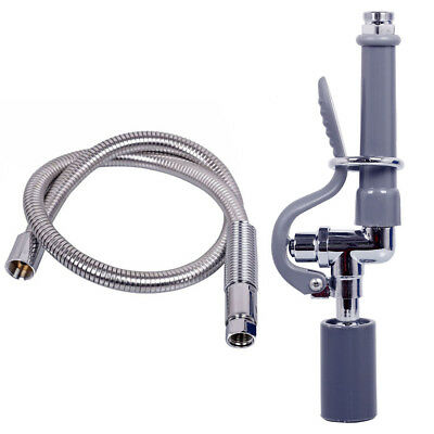 Commercial Faucet Pre Rinse Kitchen Dishwasher Sprayer Spray Head With Hose Kit
