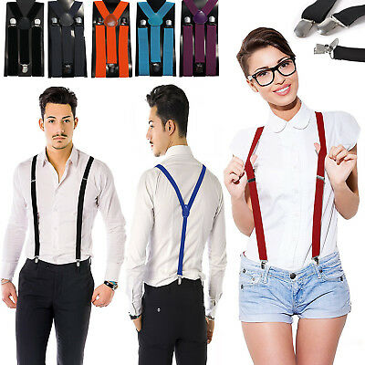 Adjustable Elastic Shoulder Metal Clip Suspenders For Men And Women