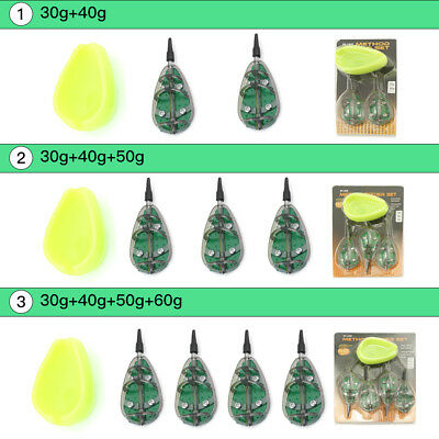 Carp Fishing Feeder 30g 40g 50g 60g Fishing Inline Method Feeder Mould Set BT