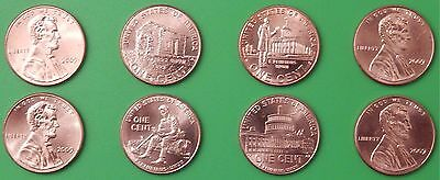 2009 US Lincoln Bicentennial Pennies Four P&Four D From Mint Rolls
