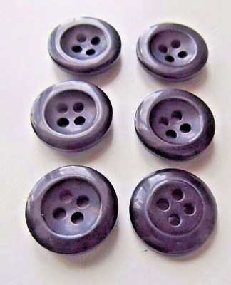 6 x Trouser Buttons Black Grey Navy Brown 4 Hole Quality Type 17mm