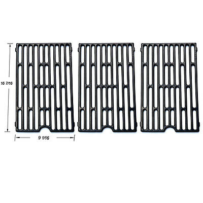 Jenn Air Grill Barbecue Porcelain Coated Cast Iron Cooking Grid Grate JGX271-3pk