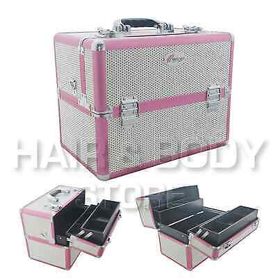 beauté CASE FAUX DIAMANTS BLANC valise DES ongles ART reconstruction ongles