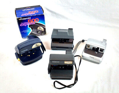 Polaroid 600 Instant Camera Bundle ~ One Step Express / Close Up / One ~ Working