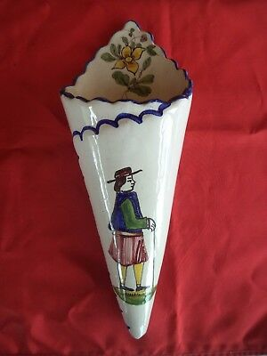 Ancienne Bouquetiere Faience Quimper 19 Eme Former(Old) Flower Girl Earthenware.