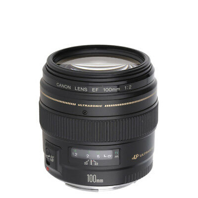 NEW Canon 100mm f/2.0 USM Lens For EOS 1 Year Warranty