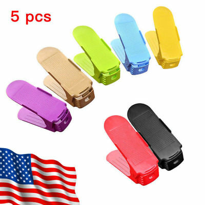 5PCS Display Rack Shoes Organizer Plastic Space-Saving Rack Storage Multi-color
