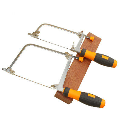 Coping saw with 5 blades rubber handle jewelers mini table woodworking hand saw