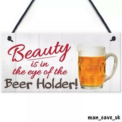 Funny Beer Sign - PVC Hanging Sign - Plaque - Novelty Gift - Home Bar - Man Cave