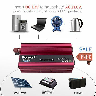 3000W Watt Power Inverter DC 12V to AC 110V for Car Truck RV Pickup Converter LN