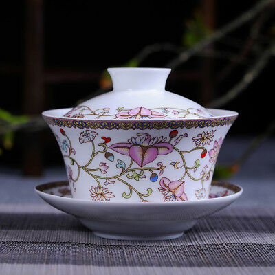 porcelain tureen Chinese gaiwan covered bowl cup tea bowl for Oolong tea China