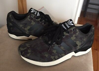 save off 2aa82 81358 ADIDAS ZX FLUX Italia Independent 9.5 Black Green Stan smith Ultra Boost  Camo