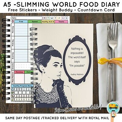 food diary, slimming world compatible, diet,Book, weight loss, tracker log A5-18