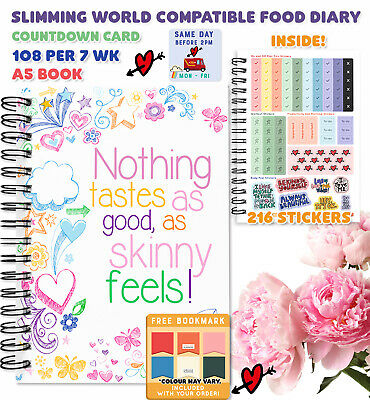 Food Diary Diet Journal Slimming World Compatible Weight Loss Tracker13wk 33/PEN