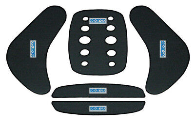 02798 Sparco Kart Seat 5-Piece Padding Kit Black - Fits Any Karting Seat!