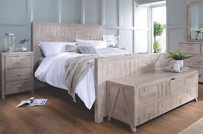 Arlo Reclaimed Wood Hand Crafted Sleigh Bed~Double, King, Superking