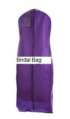 Purple Breathable Cloth Wedding Gown Dress Garment Bag