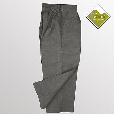 School Trousers - Boys Essential Pull-On School Trousers - Teflon Coated  *