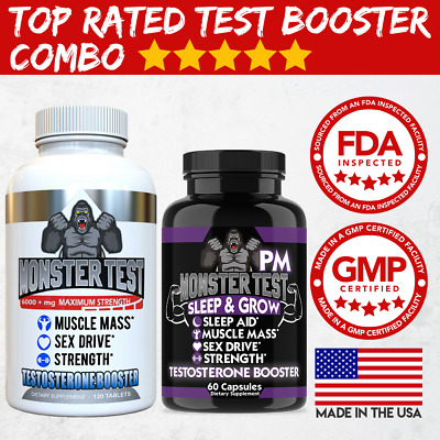 Angry Supplements Monster Test Booster Pack, Monster Test + Monster Test PM 2-PK
