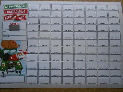 Christmas Scratch Card 88 Spaces - 1 Only- Great Fundraiser = Raise £44 Easily