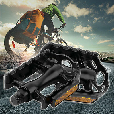 1 Pair Aluminium Alloy Mountain Road Bike Bicycle Cycling 9/16 Pedals Flat ERE