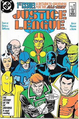 Justice League Comic Book #1 DC Comics 1987 NEAR MINT NEW UNREAD