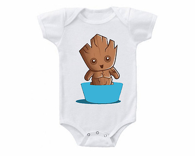 Guardians Of The Galaxy Groot Baby Onesie or Tee Shirt Shower Gift Idea