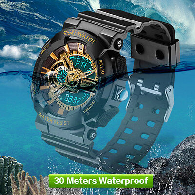 New Mens LED Digital Multifunction Waterproof Sport Military Shock Watches B4U