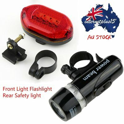 LED Bicycle Bike Cycling Silicone Head Front Rear Wheel Safety Light Lamp B4U