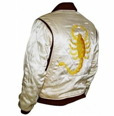 New Men's Drive Scorpion Stylish Satin Fitted Ryan Designer Gosling Movie Jacket