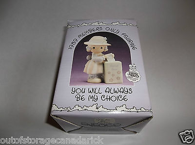 1989 Precious Moments You Will Always Be My Choice Members Only PM-891 MIB