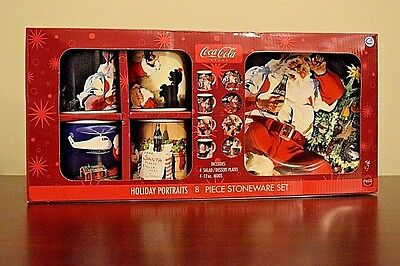 Coca-Cola Holiday Portraits 8 Piece Stoneware Set Style # MW178X8DS-Take a L@@K