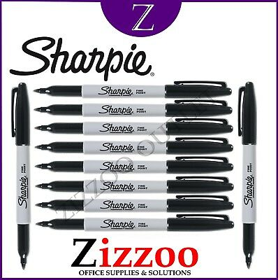 Sharpie Marker Black Pens Permanent Fine Various Quantities And Free Postage
