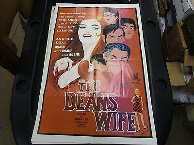 One Sheet Movie Poster Tale Of The Dean's Wife 1970 Luanne Roberts Roger Gentry