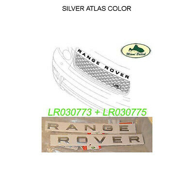 Land Rover Front Name Plate Silver Hood Decal Range Rover Oem