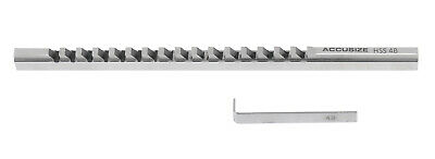 4mm-Style B, H.S.S. Keyway Broach, Length of Cut: 19/64'' - 1-11/16'', 1 Shim