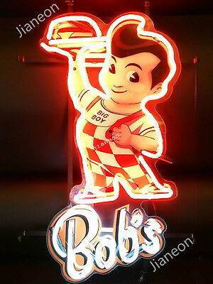 RARE Bob's Big Boy Restaurant Diner Business Sign REAL NEON SIGN BEER BAR LIGHT