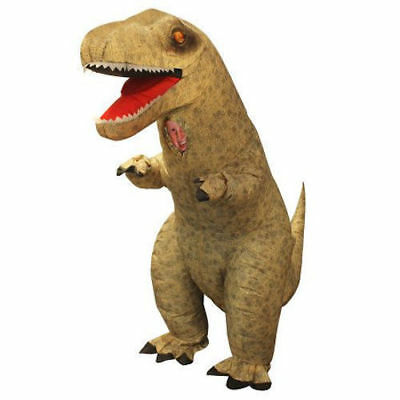 inflatable t rex halloween costume child blow up dinosaur