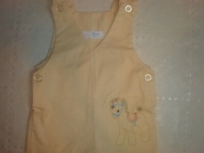 Vintage Thomas  Embroidered Overalls Romper Baby Boy..4.99...6-9 MONTHS