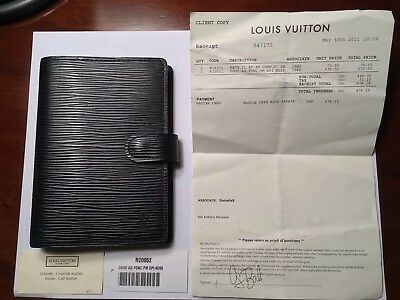 Authentic Louis Vuitton Epi Agenda PM Black Day Planner Cover NOT A FAKE!