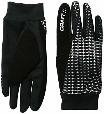 Craft CR1904311 Gants de Course à Pied Mixte Adulte, 9999 Noir/Reflective, FR :
