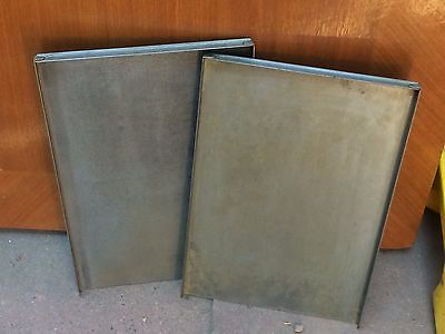 Two Letterpress Steel 9 X 13 Galley Trays, Clean and Ready for Use