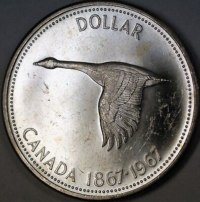 1967 Canada Flying Goose Silver Dollar $1 Commemorative Centennial Coin