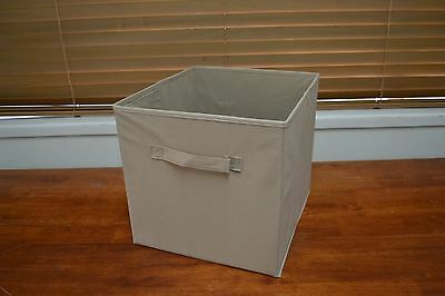 Set 4 33cm Coffee Fabric Storage Cube boxes / organizers / baskets / Container