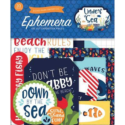 Echo Park ~ UNDER THE SEA ~ Die Cuts Ephemera