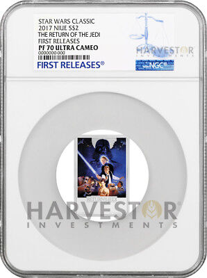 2017 Star Wars The Return Of The Jedi Poster Coin - Ngc Pf70 First Releases